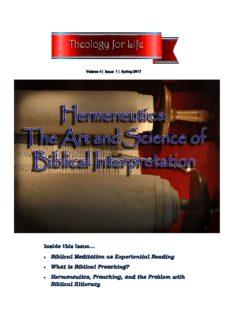 Hermeneutics: The Art and Science of Biblical Interpretation