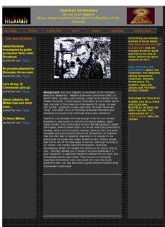 Illuminati Confessions by Leo Zagami, Leo Lyon Zagami, Leo Young
