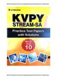 SA KVPY for Standard 11 Practice Test Papers with Solutions