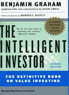The Intelligent Investor: The Definitive Book on Value Investing