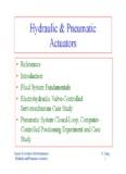 Hydraulic & Pneumatic Actuators - Welcome to Mechatronics !