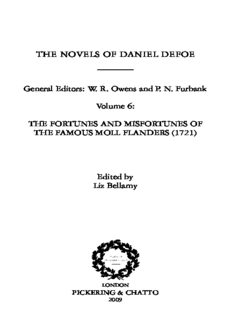 The novels of Daniel Defoe vol. 6 Moll The Fortunes and Misfortunes of the Famous Moll Flanders