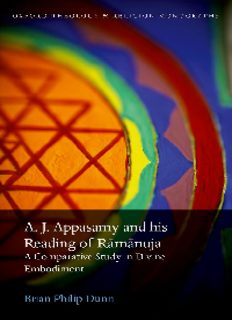 A.J. Appasamy and his Reading of Rāmānuja : a Comparative Study in Divine Embodiment