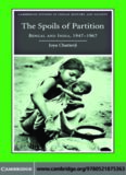 The Spoils of Partition: Bengal and India, 1947–1967