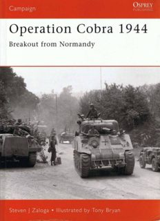 Osprey Campaign 088 - Operation Cobra 1944 Breakout from Normandy