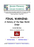 Final Warning History of New World Order by David Allen Rivera