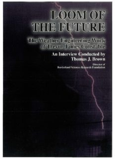 Loom of the Future. The Weather Engineering Work of Trevor James Constable