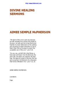 DIVINE HEALING SERMONS AIMEE SEMPLE - Biblesnet.com