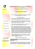 California Regional Water Quality Control Board Los Angeles Region Tracy Egoscue, Executive ...
