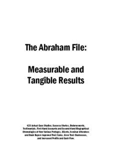 Read 900 Other Success Stories - Abraham.com