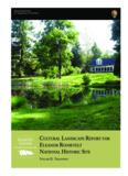 cultural landscape report for eleanor roosevelt national historic site