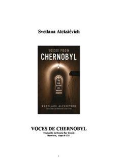 Svetlana Aleksiévich VOCES DE CHERNOBYL