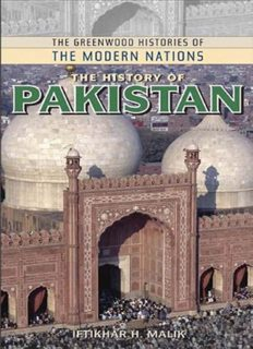 The History of Pakistan (The Greenwood Histories of the Modern Nations)