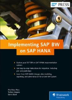 Implementing SAP NetWeaver BW on SAP HANA