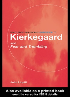 Routledge Philosophy Guidebook to: Kierkegaard and Fear and Trembling