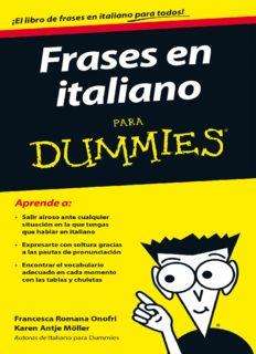 Frases en italiano para Dummies - Francesca Romana Onofri & Karen Antje M ller