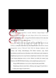 BAB III ANALISA DAN PERANCANGAN SISTEM 3.1. Analisa Masalah Langkah awal dalam