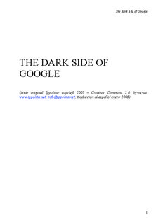 THE DARK SIDE OF GOOGLE - ippolita.net