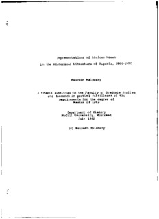 Representations of African Women in the Historical Literature of Nigeria, 1890-1990 Maureen ...