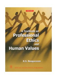 professional ethics & human values by r.s. naagarazan