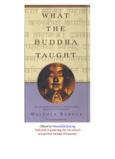 What the Buddha Taught - Samael Aun Weor
