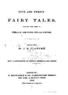 Beauty and the Beast (from Four and Twenty Fairy Tales, Selected from Those of Perrault and Other Popular Writers by J.R. Planche)