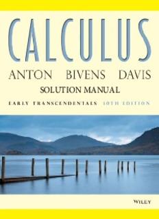 Howard Anton, Iril Bivens & Stephen Davis [SOLUTION]