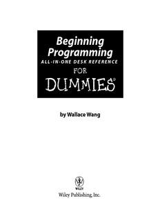 Programming for Dummies programming-for-dummies