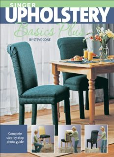 Singer upholstery basics plus: complete step-by-step photo guide