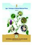 Agro-techniques of selected medicinal plants Vol - III