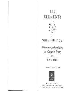 The Elements of Style by Strunk & White
