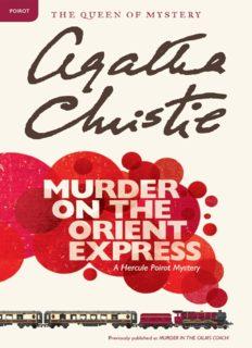 Murder on the Orient Express (Murder in the Calais Coach)