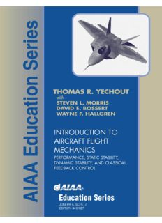 Introduction to aircraft flight mechanics: performance, static stability, dynamic stability, and classical feedback control