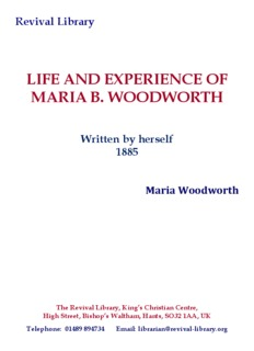 LIFE AND EXPERIENCE OF MARIA B. WOODWORTH