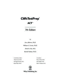 CliffsTestPrep ACT (Cliffs Test Prep ACT)