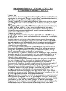 WILLIAM BOERICKE-POCKET MANUAL OF MATERIA MEDICA