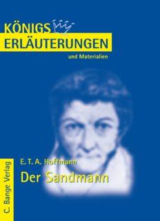 Erläuterungen zu E.T.A. Hoffmann: Der Sandmann, 7. Auflage (Königs Erläuterungen und Materialien, Band 404)