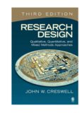 Research Design  Qualitative, Quantitative, and Mixed Methods Approaches