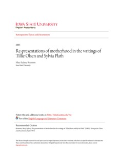 Re-presentations of motherhood in the writings of Tillie Olsen and Sylvia Plath