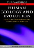 Cambridge Dictionary of Human Biology and Evolution