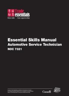 Essential Skills Manual - Automotive Service Technician