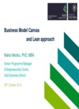 Business Model Canvas and Lean approach