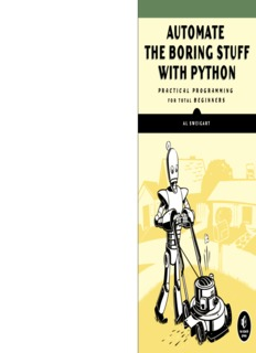 automate the boring stuff with python automate the boring stuff with python