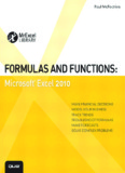 Formulas and Functions – Microsoft Excel 2010