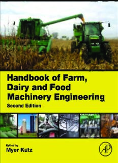 Handbook of farm, dairy, and food machinery engineering