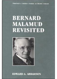 Bernard Malamud Revisited (Twayne's United States Authors Series)