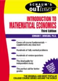 Schaum's Outline Theory and Problems of Introduction to Mathematical Economics