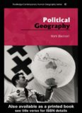 Political Geography (Routledge Contemporary Human Geography)