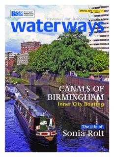 CANALS OF BIRMINGHAM Sonia Rolt