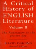 A Critical History of English Literature: The Restoration to the Present Day v. 2